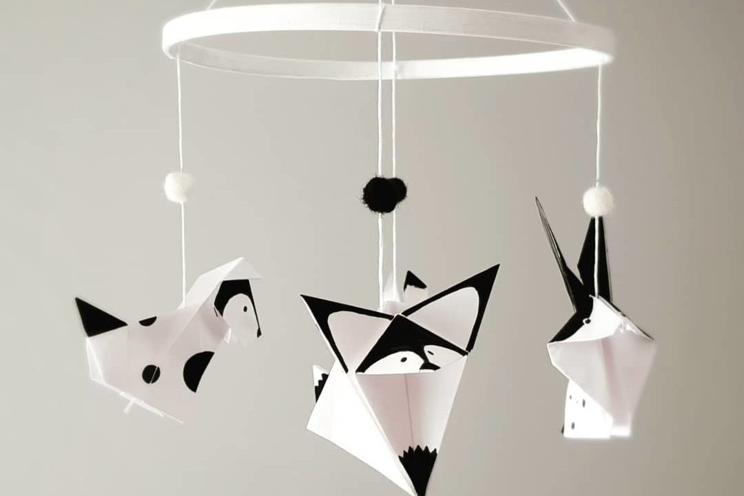 Mobile animaux origamis